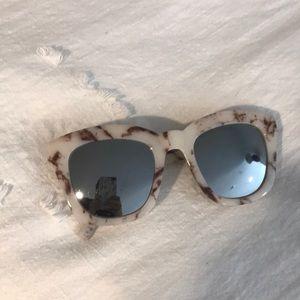 Free people marble mirrored sunglasses